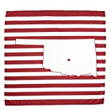 TWIG & BALE Norman Oklahoma Baby Blanket Organic Cotton Muslin Swaddle Blanket - 47' x 43' - Fans of OU Baby Gift for Boys Girls Newborn Receiving Blankets