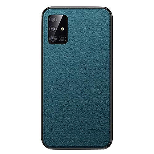 Galaxy A51 5G SC-54A/SCG07 ケース/カバー 耐衝撃 TPU レザー調 シンプル ソフトケース サムスン ギャラクシーA51 5G ソフトケース/カバー おしゃれ スマートフォン/スマフォ/スマホケース/カバー(ターコイズ)