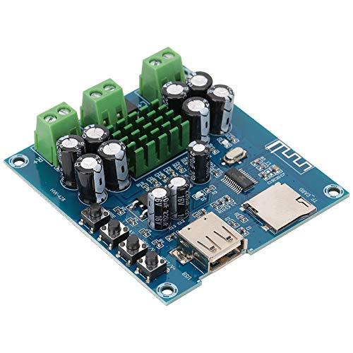 Esenlong Tarjeta adaptador de audio Bluetooth, TPA311602 50 W amplificador de potencia soporte USB TF tarjeta reproducción