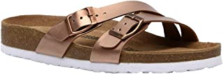 CUSHIONAIRE Women's Liza Cork Footbed Sandal with +Comfort