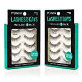 Cosmania Lashes for Days False Eyelashes, 10 Pairs | Adhesive Included (So Natural)
