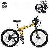 Bicicleta eléctrica de nieve, Las bicicletas plegables eléctricos for adultos con 26 en 36V extraíble de gran capacidad 8Ah de iones de litio de la montaña E-Bici 21 ligereza y velocidad de bicicletas