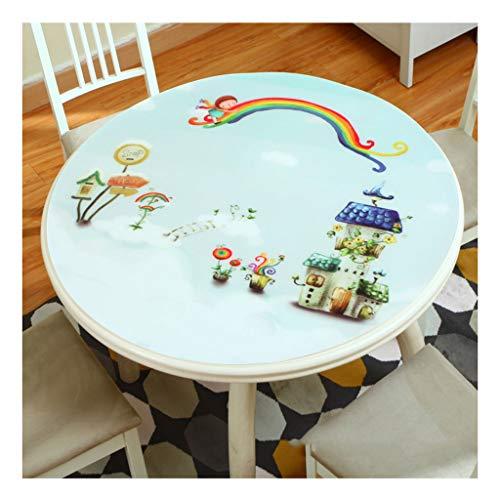 &Nappes Nappe ronde en PVC - Table à manger Cuisine transparente en PVC nappe de table (Couleur : E, taille : Round-80cm)