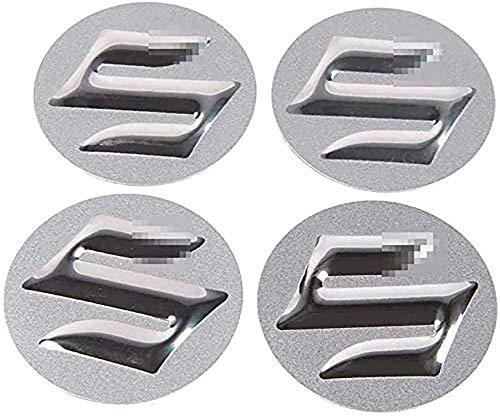 Coche Tapas Para Tapacubos Para Suzuki Swift SX4 Jimny Samurai Vitara Alto Liana 56.5mm,Centro Tapa Central De Rueda Con Logo,Cubierta De ProteccióN Contra El óXido,4 Unidades