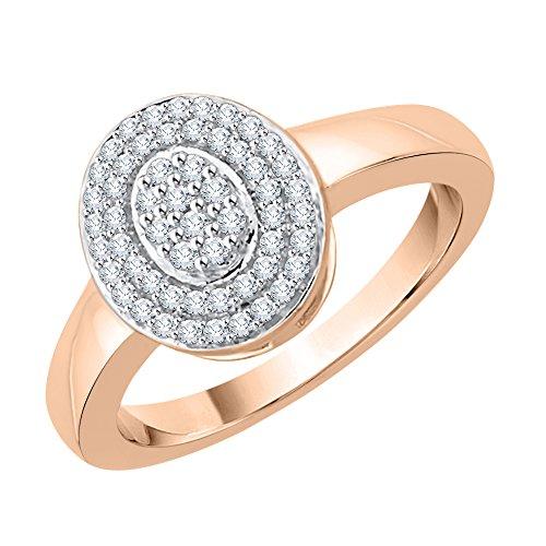 KATARINA Anillo de diamantes en oro de 14 K (1/4 cttw, J-K, SI2-I1)