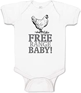 Custom Baby Bodysuit Free Range Baby! Chicken Farm Cotton Boy & Girl Clothes