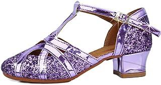 HROYL Chaussures de Danse Latine pour Femmes/Fille Tango Chacha Samba Jazz Chaussures de Danse De Salon, FR-TL-206