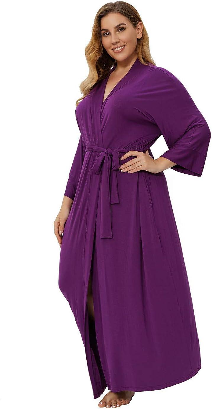 Super Rare Soldering Shopping-zone Women's Plus Size Si Kimonos Robes Long