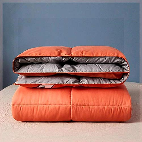 CHOU DAN Duvet 95 white goose down winter duvet core double warm single quilt-150x200cm 3500g_Orange and gray double color matching