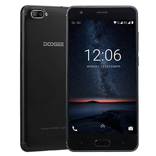 Moviles Libres Baratos, DOOGEE X20L Smartphone Libre 4G Dual SIM, Pantalla de 5 Pulgadas HD IPS - 2 GB de RAM - 16 GB - MT6737 Quad Core Android 7.0 - Cámara Trasera Doble de 5 MP - Negro