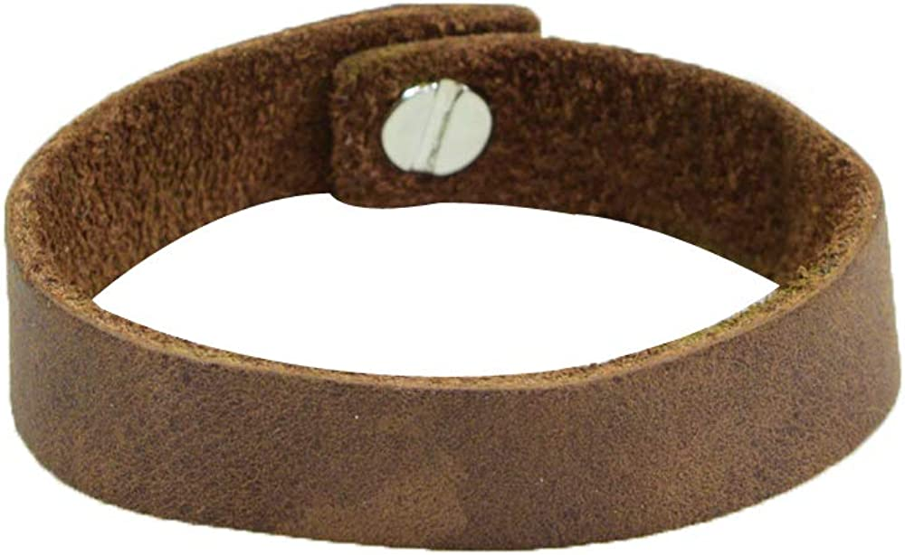 Soft Leather Bracelet with rustic clasp (7-inch wristband) Handmade by Hide & Drink :: Bourbon Brown