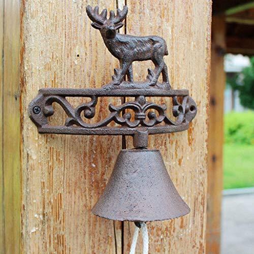Sprzęt Retro Nostalgiczny dzwonek z kutego żelaza Ełk Dzwonki żeliwne Kraj amerykański Ogród Ręczny dzwonek do drzwi ogrodowych