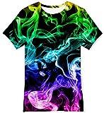 NEWISTAR T-Shirts pour Garçon 3D Impression été T-Shirt à Manches Courtes 6-8 Ans