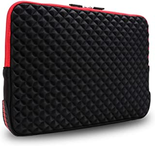 iCozzier 15-15.6 Inch Diamond Foam Laptop Sleeve with Coner Silicone Pad Shock&Water Resistant Carrying Cover Briefcase fo...