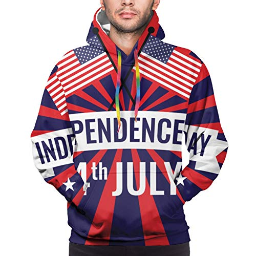 Hangdachang American Independence Day and American Flag Youth 3D Printed Hooide Sweatshirt with Pocket S