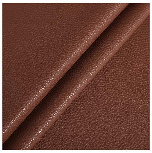 ZHIHEHE Cuero De Imitación Tela Polipiel 1,2 mm De Espesor Vinilo Paño De Cuero Material DeTela 138cm De Ancho - Rojo Marrón 1 Metro (100cm x 138cm)-Blanco 1.38×10m