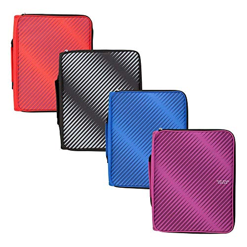 Five Star 2 Inch Zipper Binder, 3 Ring Binder, 6-Pocket Expanding File, Durable, Color Selected for You, 1 Count (29592)