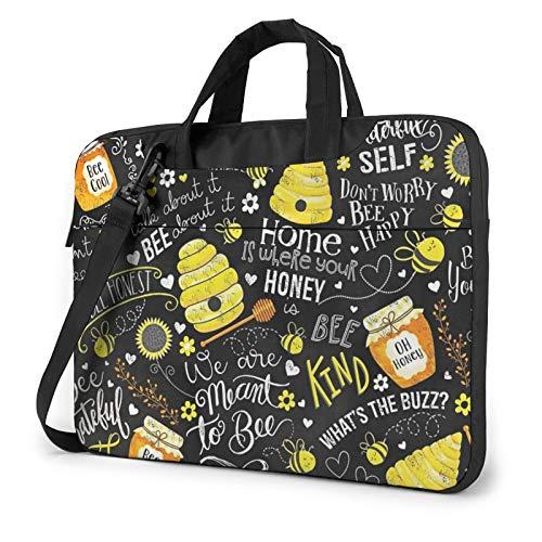 Laptop Sleeve Case Kind Bee Honey Laptop Sleeve Bag Compatible with MacBook Laptop Shoulder Messenger Bag 3D Printing Notebook Computer Protective Case