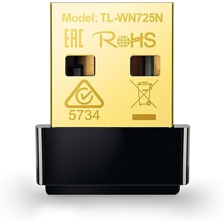 TP-Link TL-WN725N Adaptador USB Nano Inalámbrico N de 150Mbps, diseño miniatura Plug it and forget, compatible con Windows XP/Vista/7/8