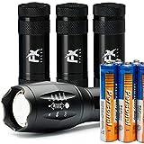 LED Taschenlampe Set – Superhelle Handlampe + 3 Mini Lampe Pack Handlich Perfekte Lampe für...