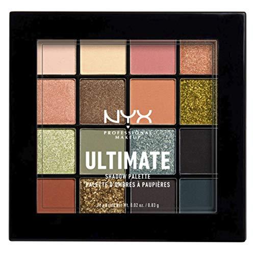 NYX Professional Makeup Paleta de sombras de ojos Ultimate Shadow Palette, Pigmentos compactos, Fórmula vegana, 16 tonos mates, satinados y metalizados, Tono: Utopia