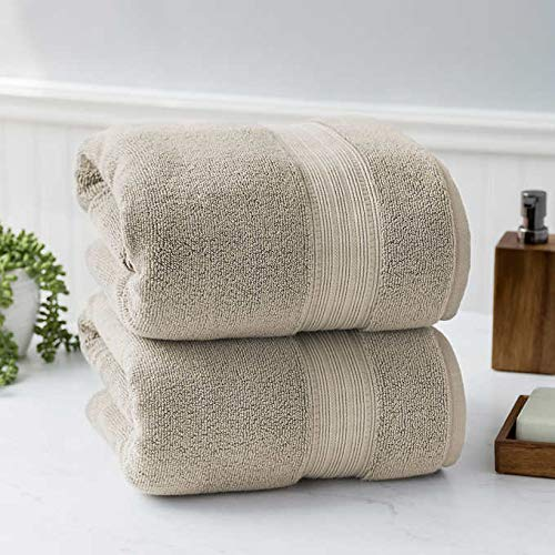 Charisma 100% Hygro Cotton 2-Piece Bath Towel Set & (1 Size Light Brown)