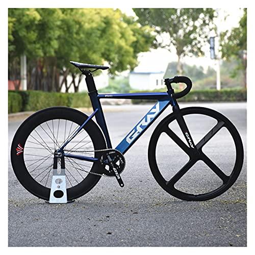 Story Bicicleta de Engranajes fijos 48 cm 52 cm 55 cm Bicicleta de Aluminio de Aluminio de una Sola Velocidad de Aluminio Bicicleta 700C 3/4 radios RAPA DE RACIDO V Freno