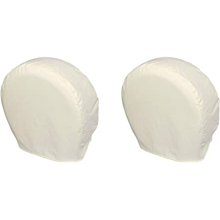 Explore Land Tire Covers 2 Pack - Tough Tire Wheel Protector for Truck, SUV, Trailer, Camper, RV - Universal Fits Tire Diameters 26-28.75 inches, White