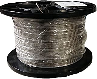1/32 7x7 Stainless Steel Aircraft Wire Rope Cable T304 250' Reel