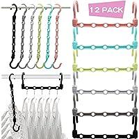 12-Pack MSHALADE Sturdy Closet Organizer Hanger