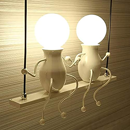 YALTOL Lámpara de Pared Interior Creativa Moderna E27 lámpara de Pared de Escalera de Moda lámpara de Pared de acera Porche de Pasillo, máximo 40 vatios (Blanco)
