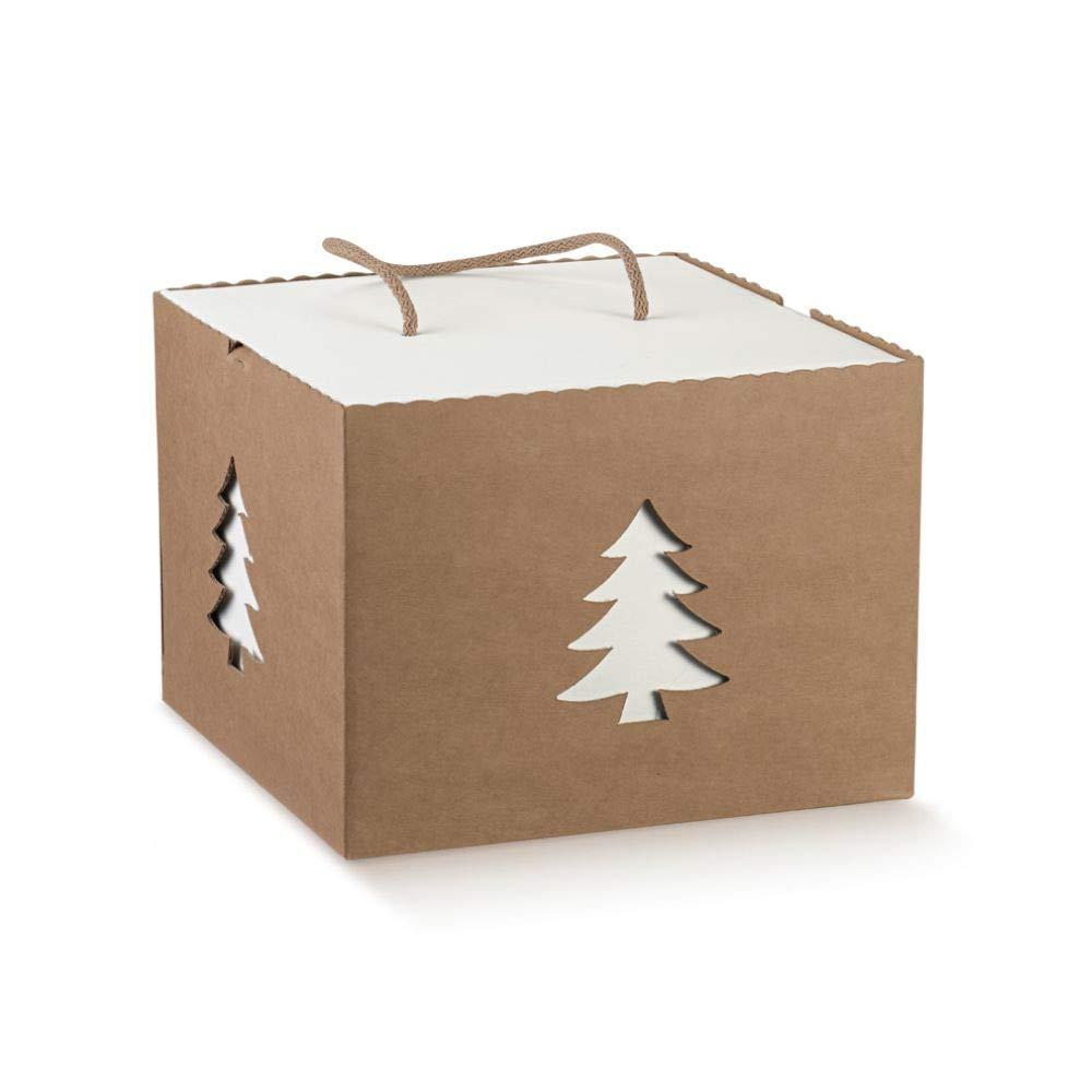 Publilancio Srl Habana Caja Árbol de Navidad con Cordón 24.5x24.5x18 CM: Amazon.es: Hogar