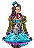 Leg Avenue Damen - Deluxe Mad Hatter Kostüm, Größe L (EUR 40)