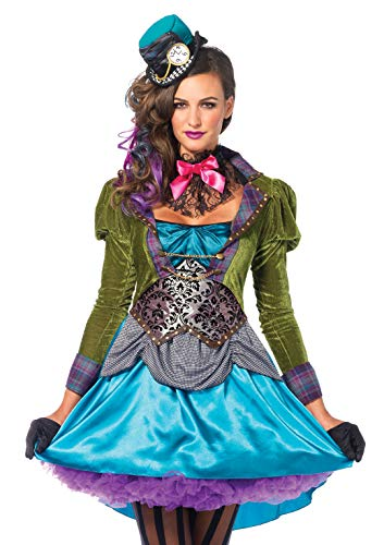 Leg Avenue Mad Hatter Adult Sized Costumes, Violet, L Femme