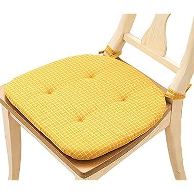 Office Chair Cushion Foam Eat Chair Cushion Stool Chair Cushion (Yellow)