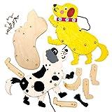 Baker Ross Kits de Marionetas de Madera con Forma de Perro AT817 (paquete de 4) para proyectos de arte y manualidades para niños, surtidos