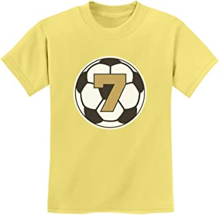Tstars - 7 Year Old Seventh Birthday Gift Soccer Youth Kids T-Shirt