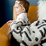 SARANONI Super Soft Blankets for Babies Ultra Soft Double Layer Bamboo Luxury Baby Blanket (Mudcloth, Security Blanket 15' x 20')