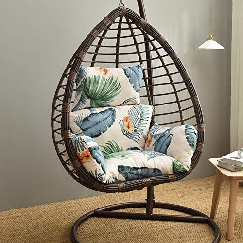 Daybreak Hamaca colgante, columpio, cojín de asiento, cojín colgante de huevo, cojín grueso, asiento de columpio, estructura desmontable, lavable, cesta colgante, sillón, cojín
