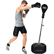 Protocol All-in-one Boxing Set | Solid EVA Foam Punching Ball with Adjustable Height Stand That...