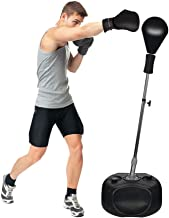 Protocol All-in-one Boxing Set | Solid EVA Foam Punching Ball with Adjustable Height Stand That Withstands Tough Beatings and Includes Comfortable Boxing Gloves (Premium)