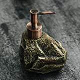 NBXLHAO Dispensador de jabón Dispensador de líquido de cerámica Piedra Retro Champú Creativo Botella de jabón líquido Gel de Ducha Botella de loción Dispensador de Soporte de 310 ml Equipo de baño,B