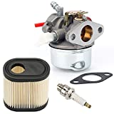 Hilom 640350 Carburetor with Air Filter Spark Plug & Gasket for Tecumseh LEV100 LEV105 LEV120 LV195EA LV195XA 640303 640271 Carb Toro Recycler Lawnmowers 20016 20017 20018 6 6.25 6.5 6.75 HP Engines