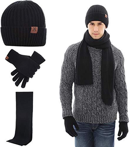 Neusky Mütze, Schal und Handschuhe im 3er-Set (Vintage 3er-Set Schwarz)