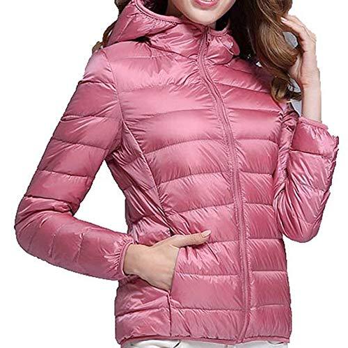 Winter Lightweight Down Jacket Women'S Hooded Short Fashion Casual Loose Large Size Women'S Jacket Pink