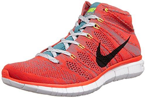 Nike Free Flynit Chukka Men's Shoes Bright Crimson/Mineral Teal/Volt/Light Ash Grey 639700-600 (Size: 10.5)