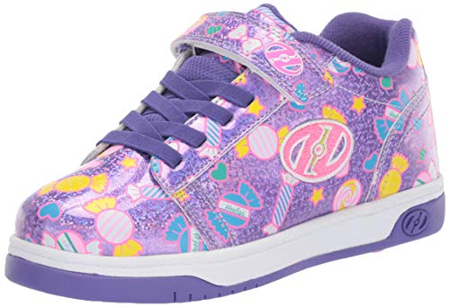 Heelys Girls' Dual Up X2 Tennis Shoe Lilac Glitter/Purple/Candy 6 M US Little Kid