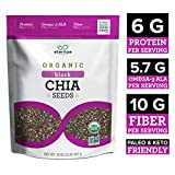 Eternae By Nature Organic Black Chia Seeds, 32 Oz - Keto, Vegan, Non-Gmo, Gluten-Free - Contains Omega-3'S, Fiber & Protein - Baking, Smoothies, Cereals, Oatmeal, Yogurt