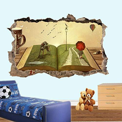 HUGF Pegatinas de pared, pegatinas de pared de cuentos infantiles, calcomanías de murales de arte 3D, decoración de la habitación