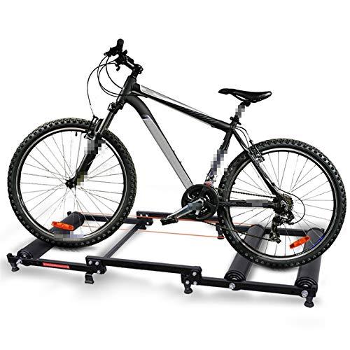WERTYU Bike Roller Piattaforma Bike Trainer Rulli Interni Casa Esercizio Ciclismo Fitness Training Biciclette Trainer Fit for 18-29 Pollici Bike Rulli